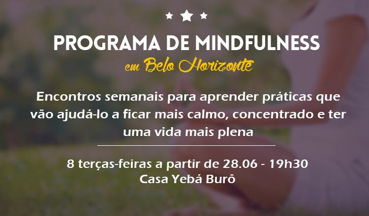 programa de 8 semanas de Mindfulness em BH